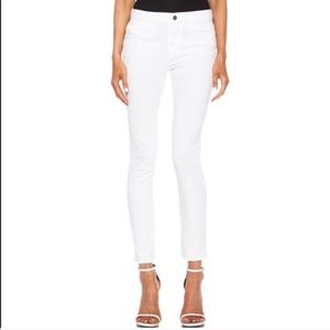 Frame Le High White Skinny Jeans